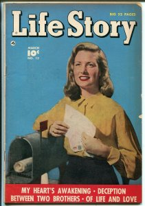 Life Story #12 1950-Fawcett-mailbox photo cover-nice art-VG+