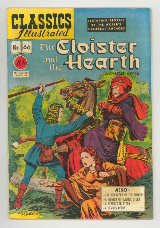 CLASSICS ILLUSTRATED #66 (0) .1949, KEY ONLY EDITION NICE FN/VF