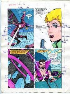 Justice Machine #24 Page #25 1988 Original Color Guide