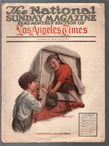 National Sunday Magazine 6/21/1914-pulp fiction-Coca-Cola ad-VG+