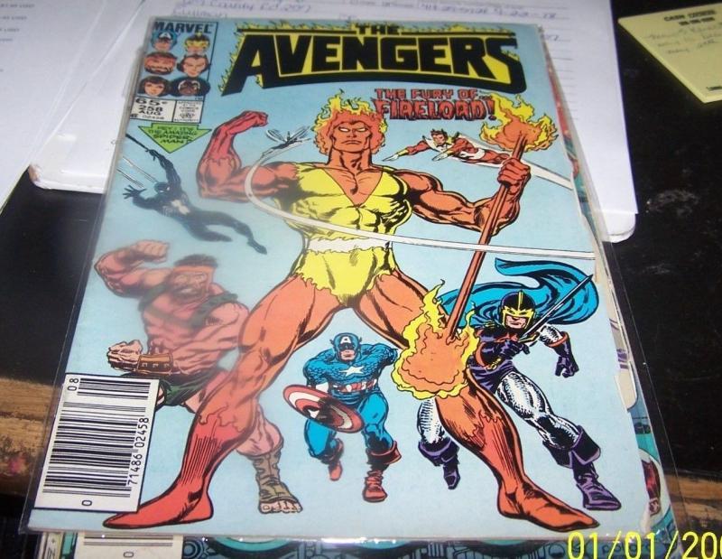 Avengers # 258 (Aug 1985, Marvel) firelord spiderman BLACK COSTUME