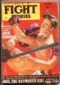 FIGHT STORIES-SPG 1949-JACK SHARKEY RING STORY-BOXING PULP-GEORGE GROSS ART
