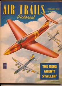 Air Trails Pictorial 2/1949-hero pulp -Commie jet-Frank Tinsley-VG/FN