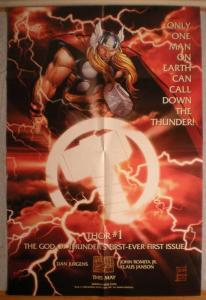 THOR Promo poster, Thunder God, 24 x 36, 1998, Unused, more in our store
