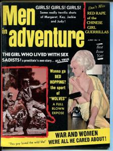 Men In Adventure 6/1968-Margaret Middleton cheesecake pix-pulp-Dodd art-FN