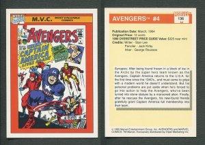 1990 Marvel Comics Card  #136 (Avengers #4 Cover) / MINT