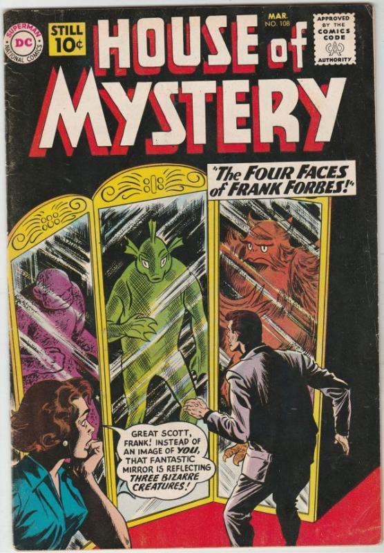 House of Mystery #108 (Mar-61) FN/VF Mid-High-Grade
