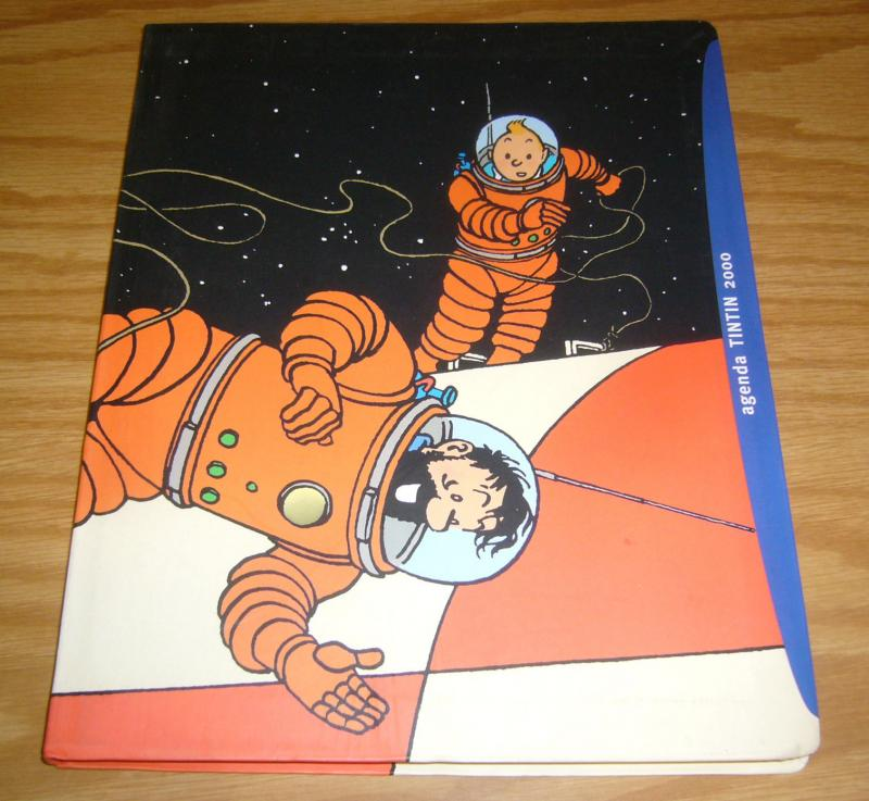 Agenda Tintin 2000 VF/NM day planner - herge art - unused