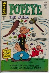 Popeye #84 1967-King-Swee'pea-Bud Sagendorf-Spook Island-VG