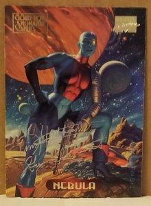 1994 Marvel Masterpieces Gold Foil Signature Series #82 Nebula/Hildrebrandt