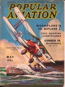 Popular Aviation 5/1933-military bi-plane-H.R. Bollin-VG