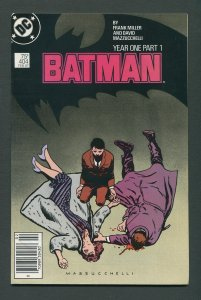Batman #404 (1st Print) Year One / Newsstand / 8.5 VFN+  February 1987