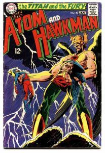 THE ATOM AND HAWKMAN #40 comic book 1969 DC COMICS KUBERT COVER vg