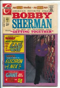 Bobby Sherman #3 1972-Charlton-photo cover-Frank Sinatra pin-up page-VG/FN