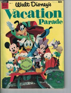 Walt Disney's Vacation Parade #5 VG Donald Duck - Mickey Mouse - Uncle Scrooge