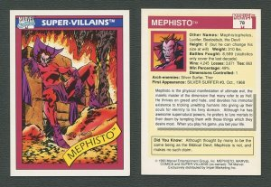 1990 Marvel Comics Card  #78 (Mephisto)   NM-MT+