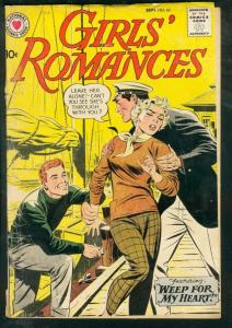 GIRLS' ROMANCES #62-WEEP FOR MY HEART-1959-DC G