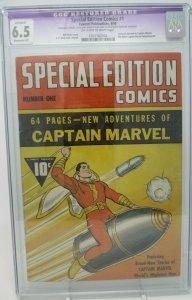 Special Edition Comics #1 ~ 1940 Fawcett Publication ~ CGC 6.5 Restored