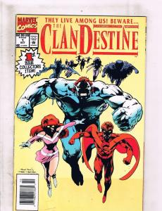 Lot of 9 The Clan Destine Marvel Comic Books #1 2 3 4 5 6 7 8 9 DC4