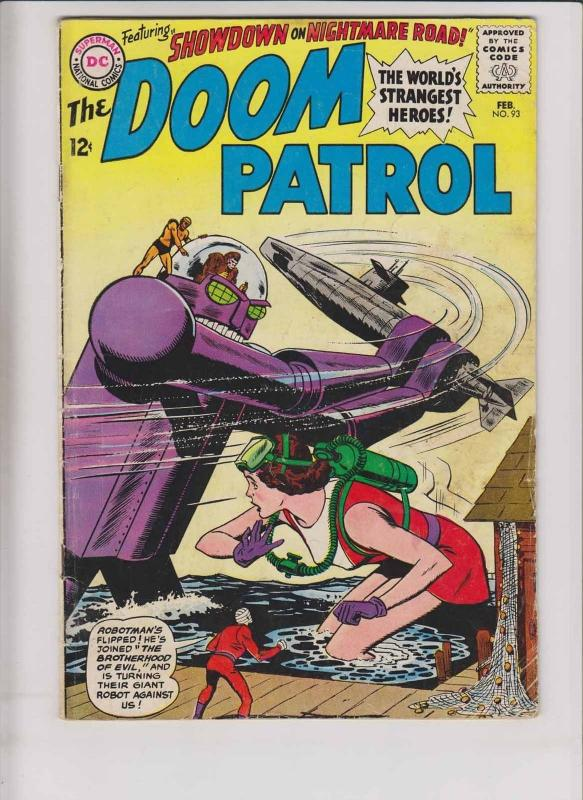 Doom Patrol #93 VG february 1965 - vs brotherhood of evil - silver age dc comics