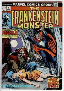 FRANKENSTEIN #9, FN+, Monster of, vs Dracula, Buscema, 1973, Bronze age Horror