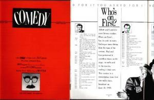 COMEDY 1(1980) VF Kurtzman, Groucho, Keaton, Sid Ceasar