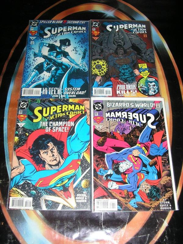 SUPERMAN IN ACTION COMICS (DC Comics), 1984-1998, 45 diff, 0, 553-743, Ann 1, 7