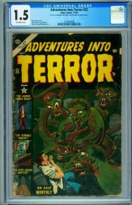 Adventures into Terror #25 cgc 1.5 1953- Atlas horror comic  Pre-code 3730300008