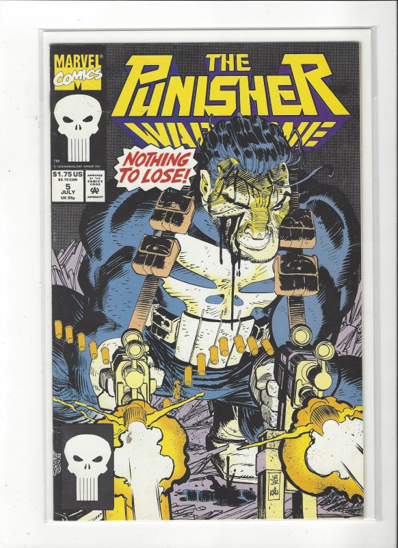 The Punisher War Zone #5 (1992) John Romita Jr. Marvel Comics NM