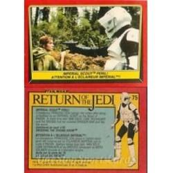 1983 Topps RETURN OF THE JEDI - IMPERIAL SCOUT PERIL #75