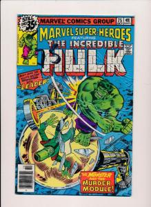 Marvel Super-Heroes ft.THE INCREDIBLE HULK #75  FINE (SRU529)