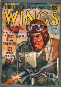 WINGS SUM 1941-BLOODY GUNNER-AVIATION PULP! VG