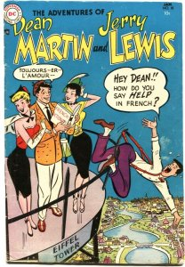 ADVENTURES OF DEAN MARTIN AND JERRY LEWIS #18-1955-EIFFEL TOWER COVER & STORY