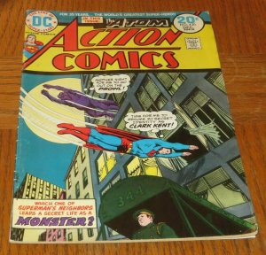Action Comics #430 VG+ 1973 Bronze Age Comic Book Atom Back-Up Story Monster?