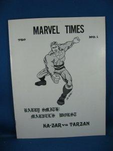 MARVEL TIMES 1 VF+ BARRY SMITH BIO FANZINE