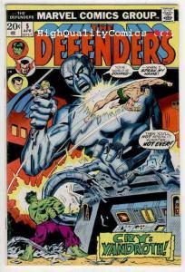 DEFENDERS #5, FN, Hulk, Dr Strange, Sub-Mariner, Valkyie, 1972 1973, Marvel