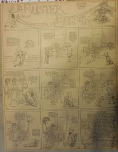 Buster Brown by RF Outcault from ?/1906 Full Size Page Black & White
