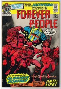 FOREVER PEOPLE #3, VF, Jack Kirby, Darkseid, AntiLife, 1972, more JK in store