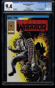 Eternal Warrior #1 CGC NM 9.4 White Pages Gold Variant Cover!