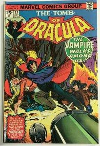 TOMB OF DRACULA#37 VF 1975 MARVEL BRONZE AGE COMICS
