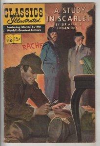 Classics Illustrated #110 (Jan-62) FN- Mid-Grade Sherlock Holmes, Doctor Watson