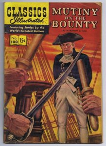 Classics Illustrated Mutiny on the Bounty 100 HRN 155 Vintage Comic Book