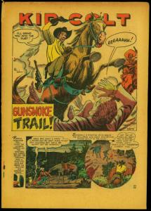Kid Colt Outlaw #18 1952- Atlas Western- Curse of Boot Hill reading copy