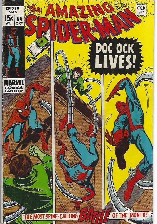 amazing spider man #89 vg+ $10.00