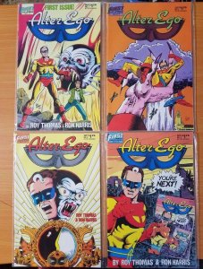 Alter Ego 1-4 Complete Set Run! ~ NEAR MINT NM ~ 1986 First Comics