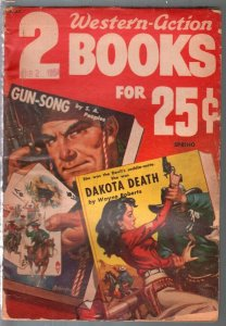 Two Western-Action Books -Spring 1954-Allen Anderson GGA cards cover-aces-G