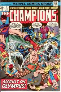 CHAMPIONS 3 VF-NM Feb. 1976 COMICS BOOK