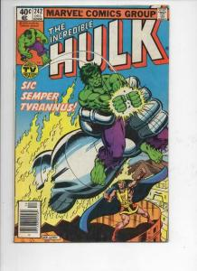 HULK #242, VG+, Incredible, Bruce Banner, Tyrannus, 1968 1979, Marvel