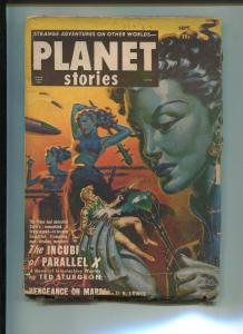 Planet Stories Pulp September 1951-THEODORE STURGEON-PAUL ANDERSON-G/VG