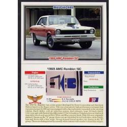 1992 Collect-A-Card Musclecars 1969 AMC RAMBLER/SC #37